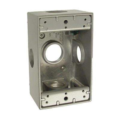 1 Gang Weatherproof Box with Five 3/4 in. Outlets