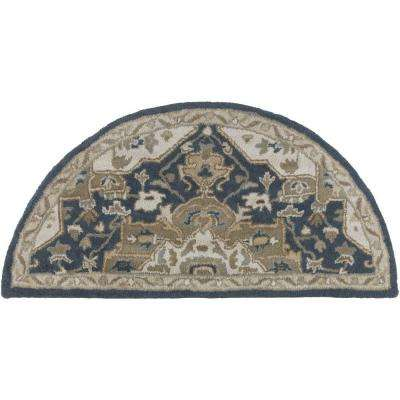 Gilgamesh Navy 2 ft. x 4 ft. Hearth Indoor Area Rug