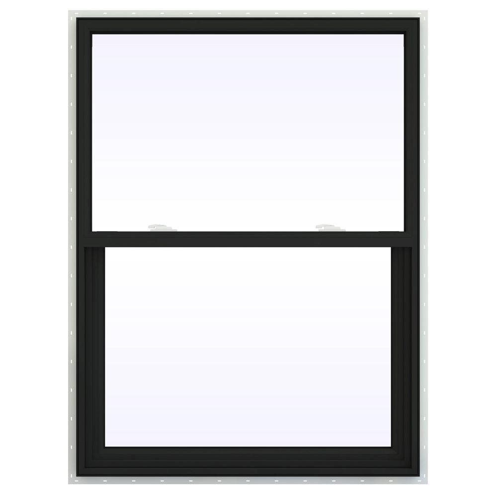 JELD-WEN 35.5 in. x 53.5 in. V-2500 Series Single Hung Vinyl Window - Bronze