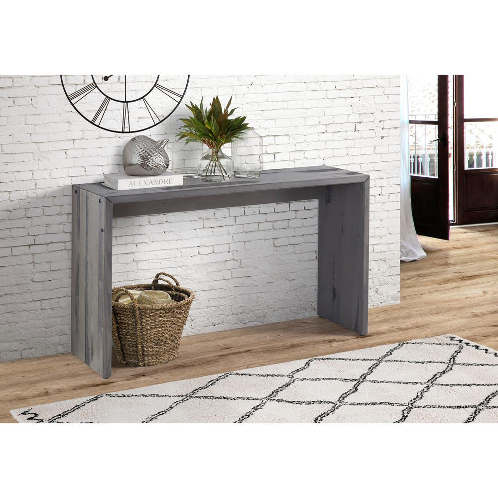 High Quality Walker Edison Furniture Company 48 In. Gray Solid Reclaimed Wood Entry Table
