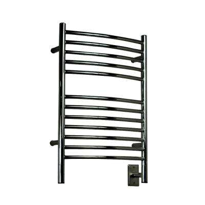 Jeeves E-Curved 20.5 in. W x 31 in. H 12-Bar Electric Towel Warmer in Polished Stainless Steel