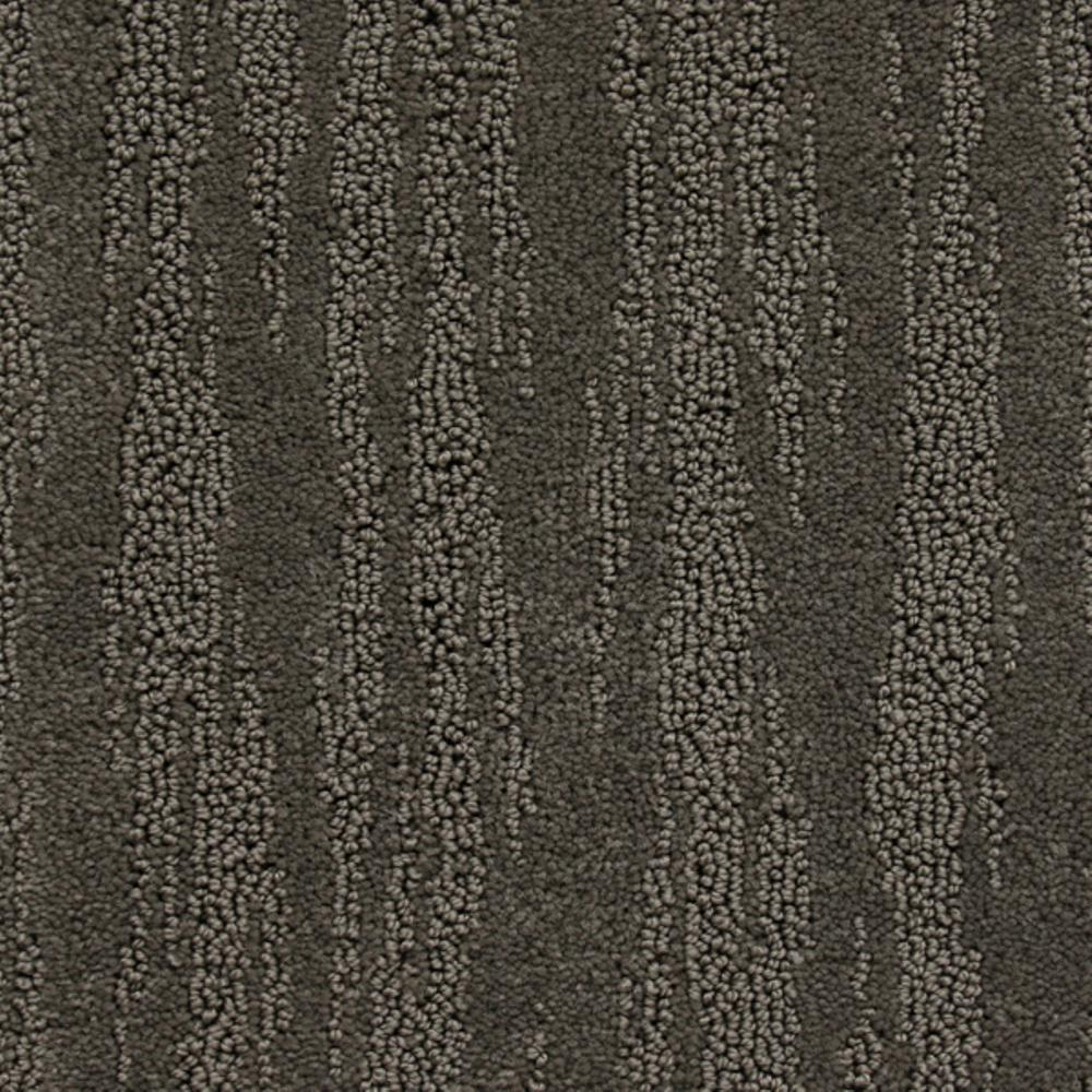 Carpet Sample - Mountain Top - Color Granite Dust Loop 8 in. x 8 in., Grays