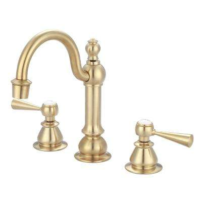 8 in. Adjustable Widespread 2-Handle High Arc Lavatory Faucet in Satin Brass