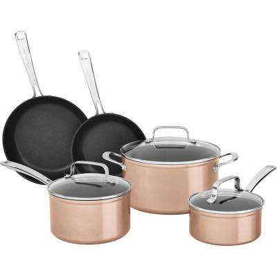 8-Piece Hard Anodized Nonstick Toffee Delight Cookware Set