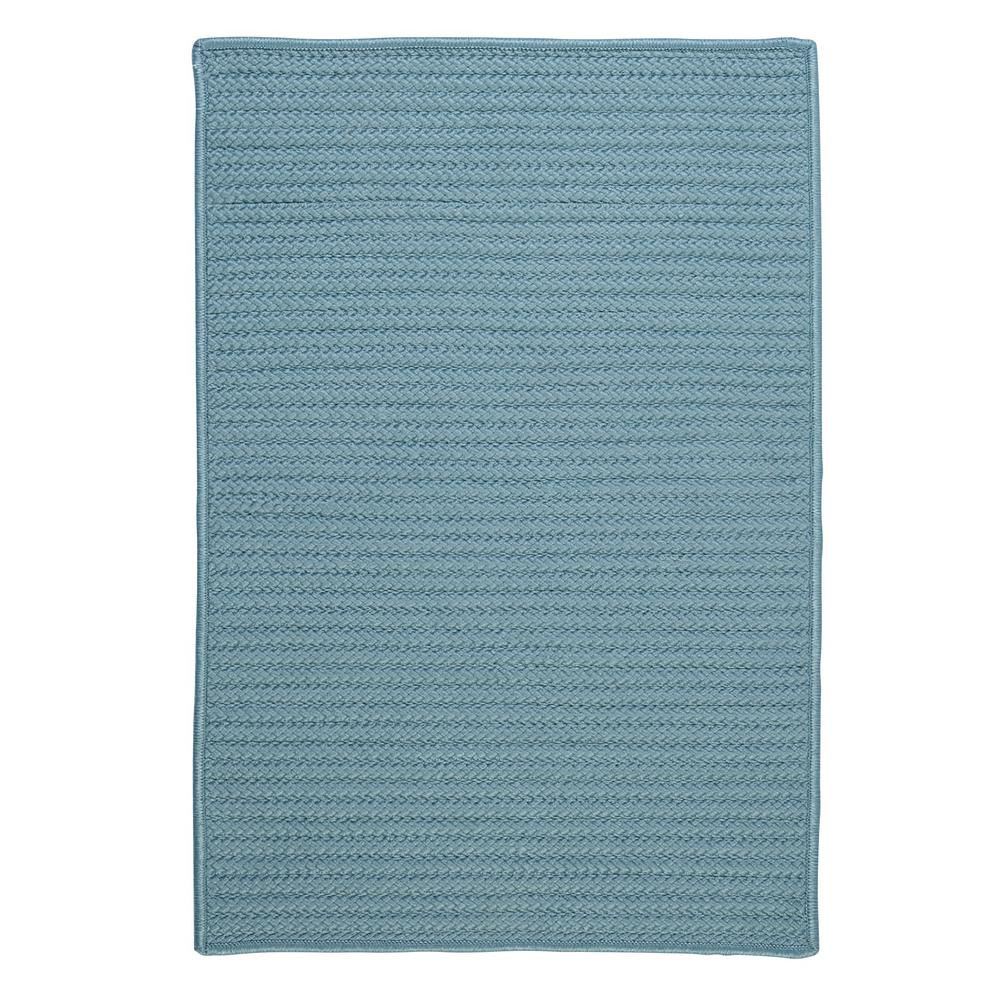 Solid Federal Blue 7 ft. x 9 ft. Indoor/Outdoor Braided Area
