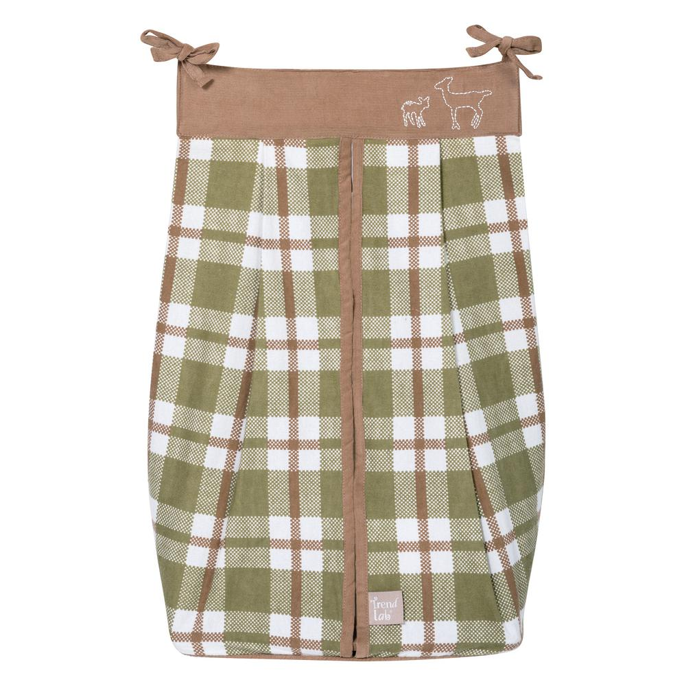 Trend Lab Deer Lodge Diaper Stacker, Green/Brown/White