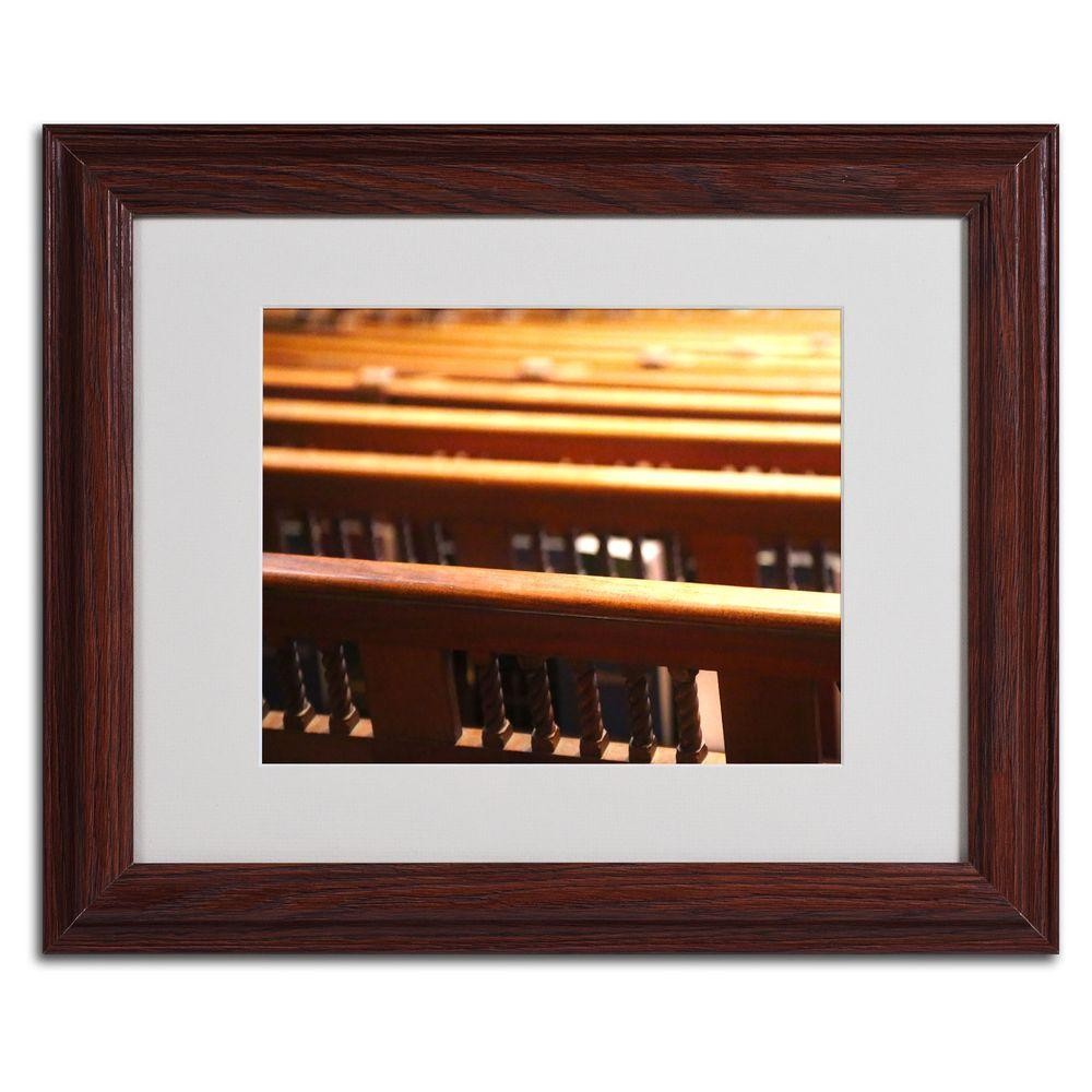null 11 in. x 14 in. Trinity Church 2 Matted Framed Art