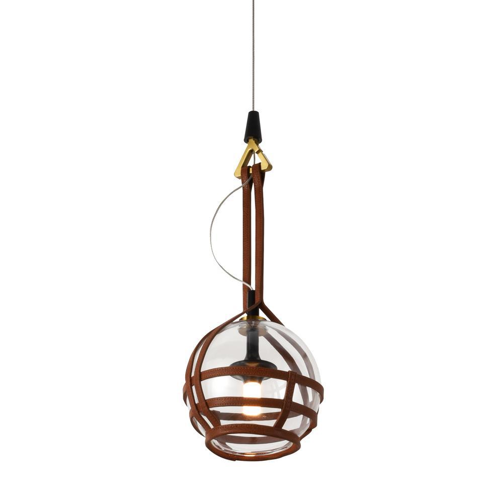 Bari 30-Watt Integrated LED Antique Brass Pendant