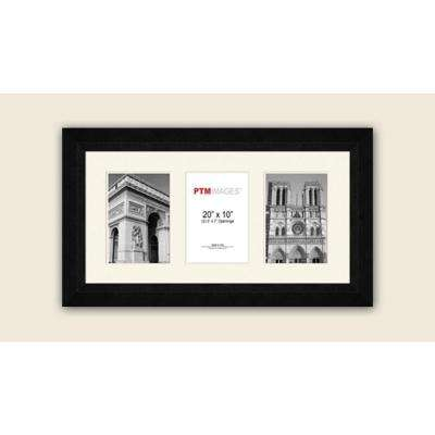 3-Opening Horizontal 5 in. x 7 in. White Matted Black Photo Collage Frame