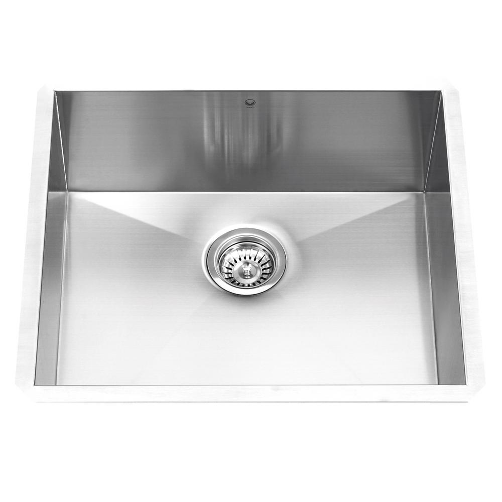 VIGO Undermount Stainless Steel 23 In. Single Bowl Kitchen Sink VG2318C    The Home Depot