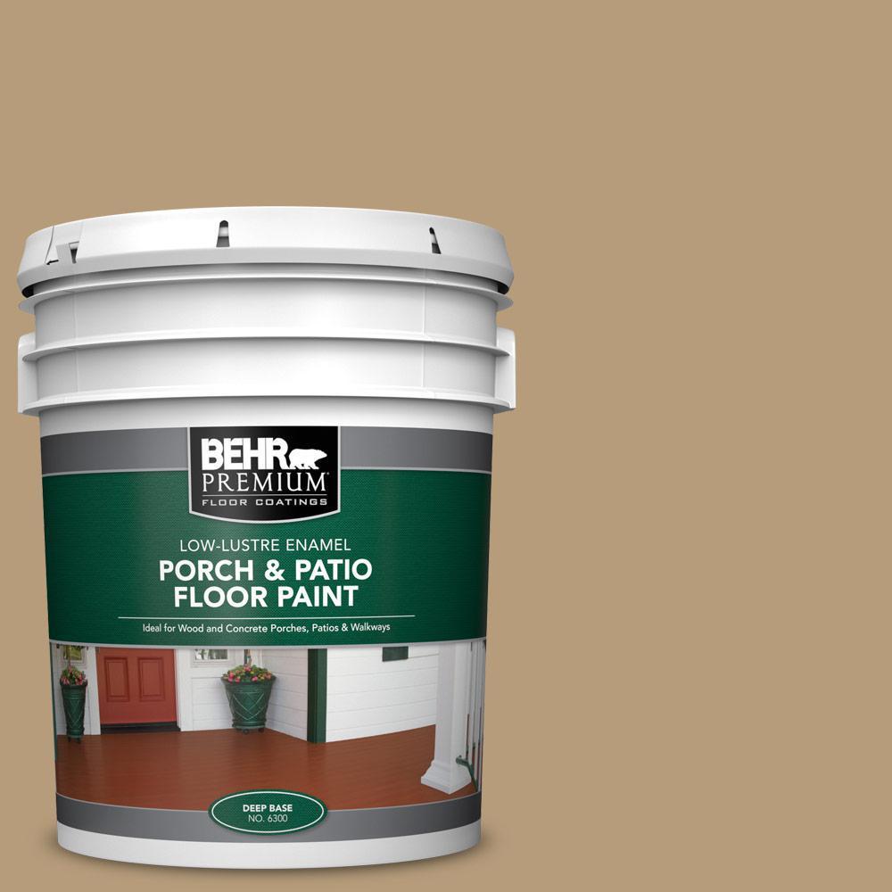 5 gal. #PFC-28 Desert Sandstone Low-Lustre Enamel Interior/Exterior Porch and Patio Floor Paint