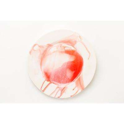 Splash Red & White Dinner Plate, Set of 4