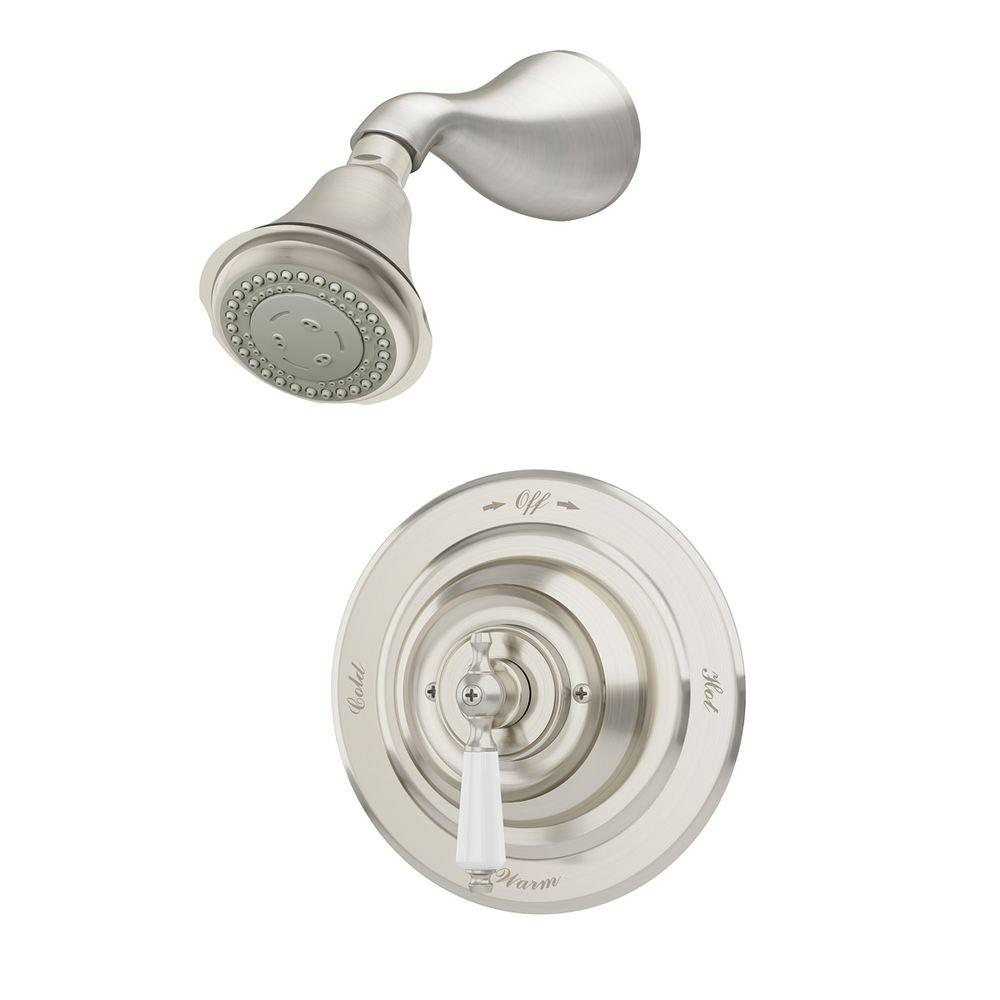 Carrington Single-Handle 3-Spray Shower Faucet in Satin Nickel (Valve Included)