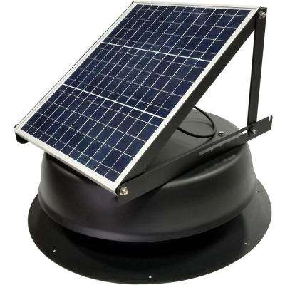 30-Watt 1550 CFM Ultra-Low Profile Black Solar Powered Attic Fan