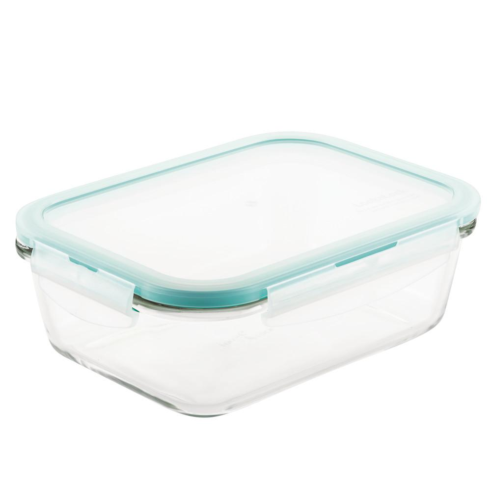 Lock Lock Purely Better Glass Rectangular Food Storage Container 34 Ounce Llg445 The Home Depot