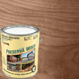 1 Gal Semi Transpa Oil Based Tahoma Brown Exterior Wood Stain