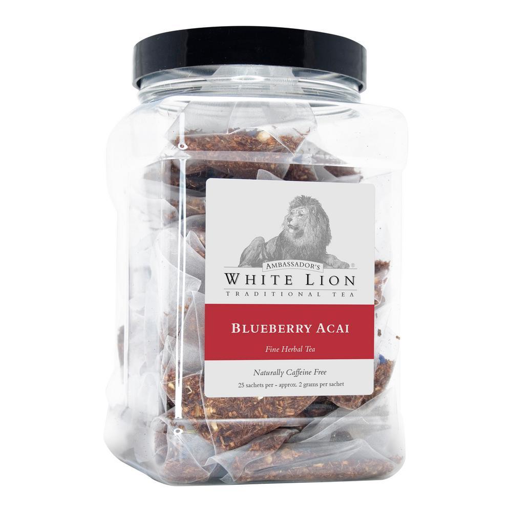 Tea Blueberry Acai Bulk 25 Sachets Retail Canister Tea Bags Sachets (25 per Pack)