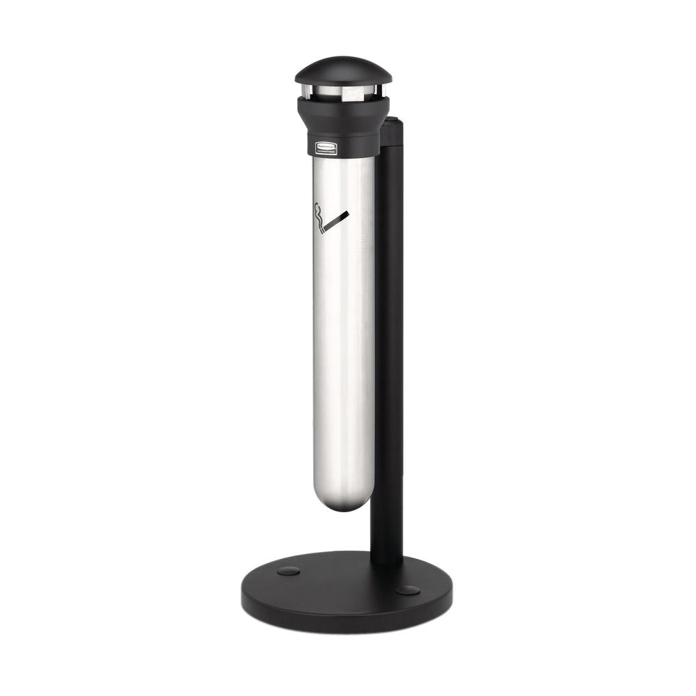 Infinity Base-Mount Stainless Steel/Black Smoking Receptacle