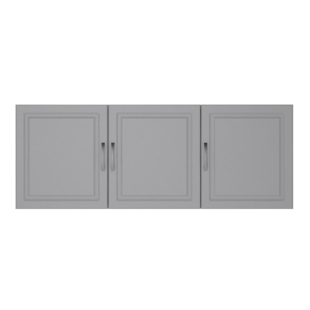 AmeriwoodHome Ameriwood Home Trailwinds 54 in. Ashen Gray Wall Cabinet