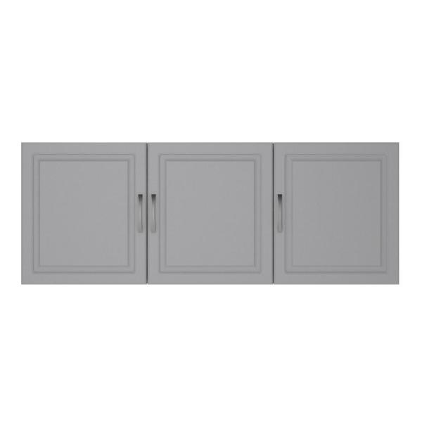 Ameriwood Home Trailwinds 54 in. Ashen Gray Wall Cabinet