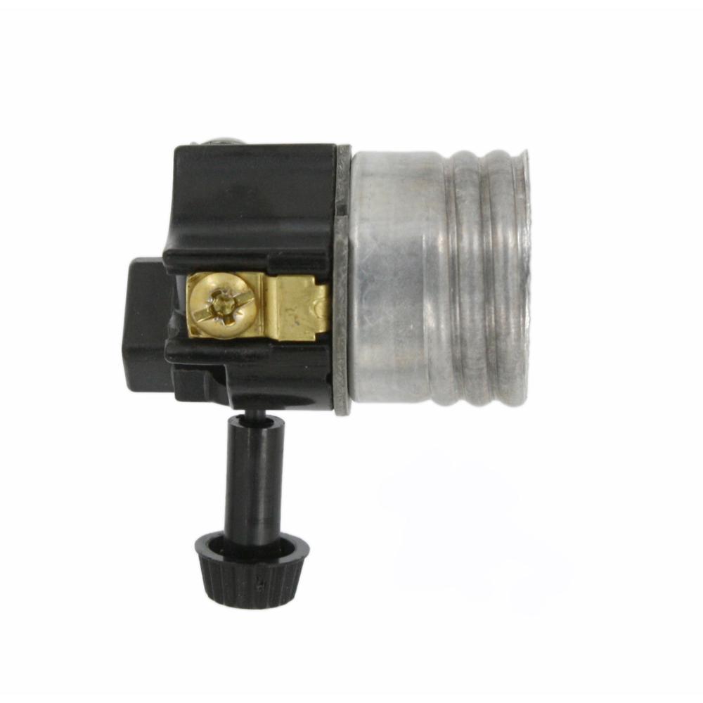 Medium Base Phenolic Aluminum Screw Lampholder Shell, Aluminum