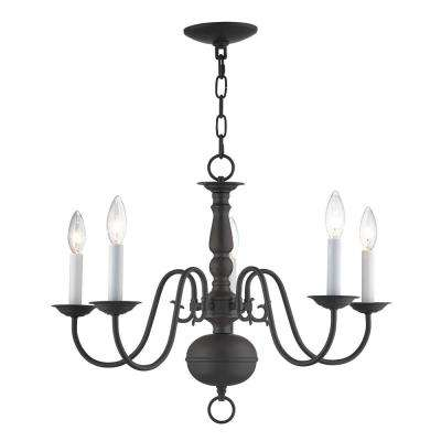 Williamsburgh 5-Light Bronze Chandelier