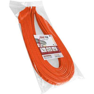 32 in. Cable Ties, Orange (10-Pack)
