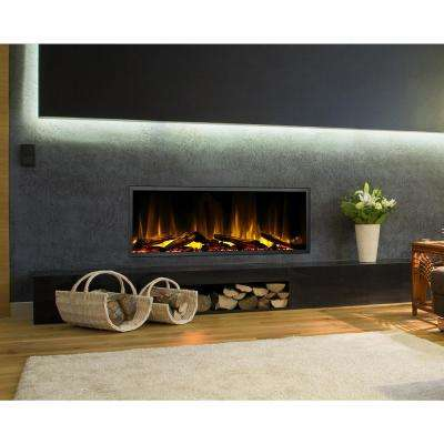 45 in. Harmony Built-in LED Electric Fireplace in Black Trim