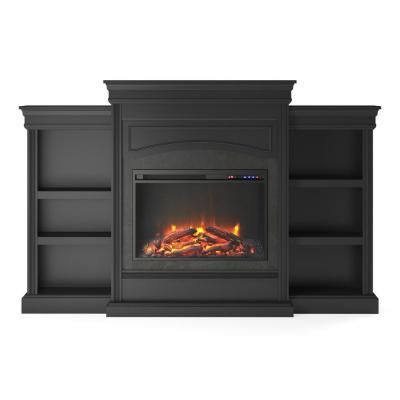 Robinside Black Mantel Fireplace