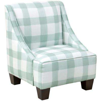 Buffalo Square Mint Kid's Swoop Arm Chair