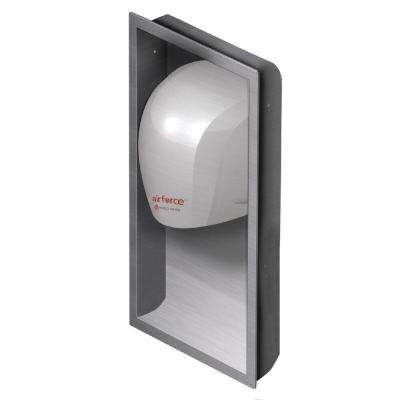 Recess Kit for Airforce Hand Dryers in Brushed Stainless Steel