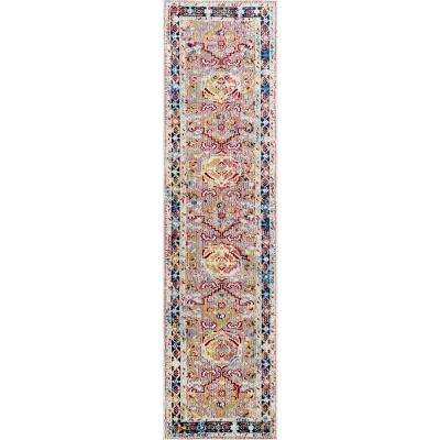 Vintage Tribal Hex Deandrea Pink 2 ft. x 8 ft. Runner