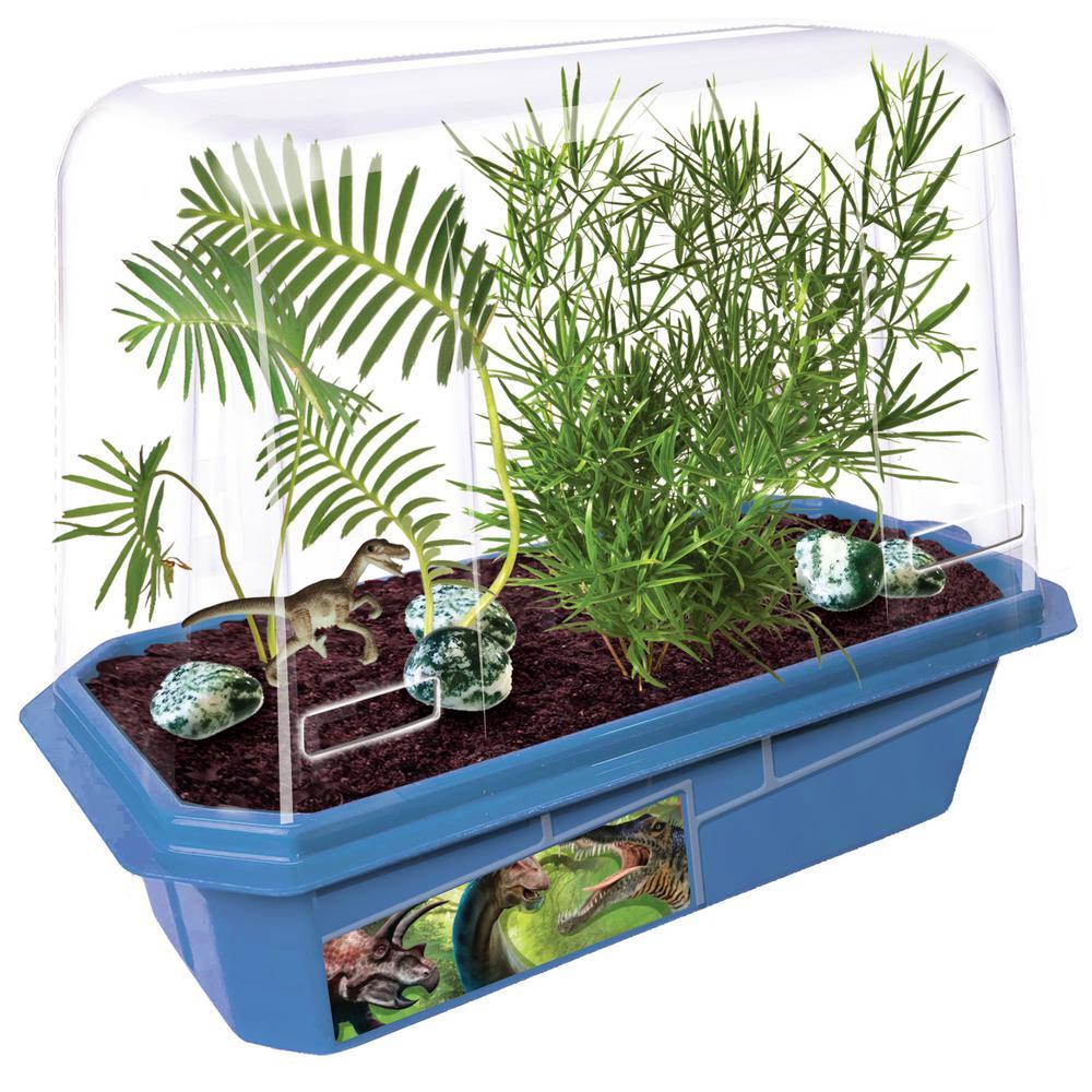 Miniature World Clear Plastic Prehistoric Dinosaur Land Indoor Garden Terrarium Indoor Garden Seed Starter Kit
