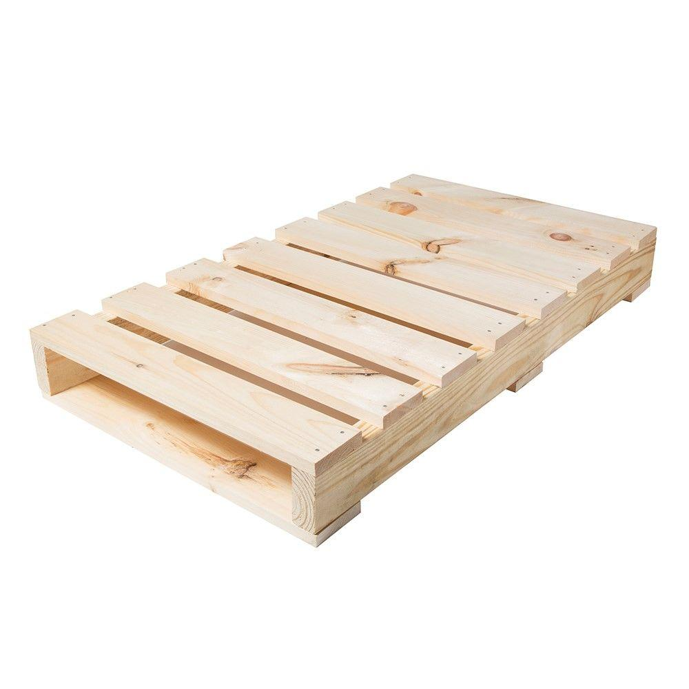 Crates Pallet 40 In W X 23 In D X 5 In H Natural Pine Half Kit 94711 The Home Depot