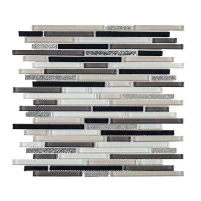 Thundering Cliffs 11-1/2 in. x 11-5/8 in. x 8 mm Glass/Stone Mosaic Tile