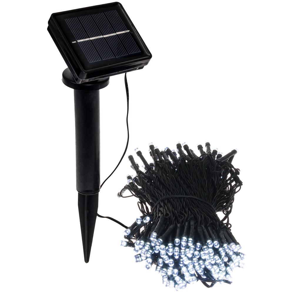 Outdoor String Lights White: GreenLighting 250 Light 80 Ft. Solar Powered Integrated
