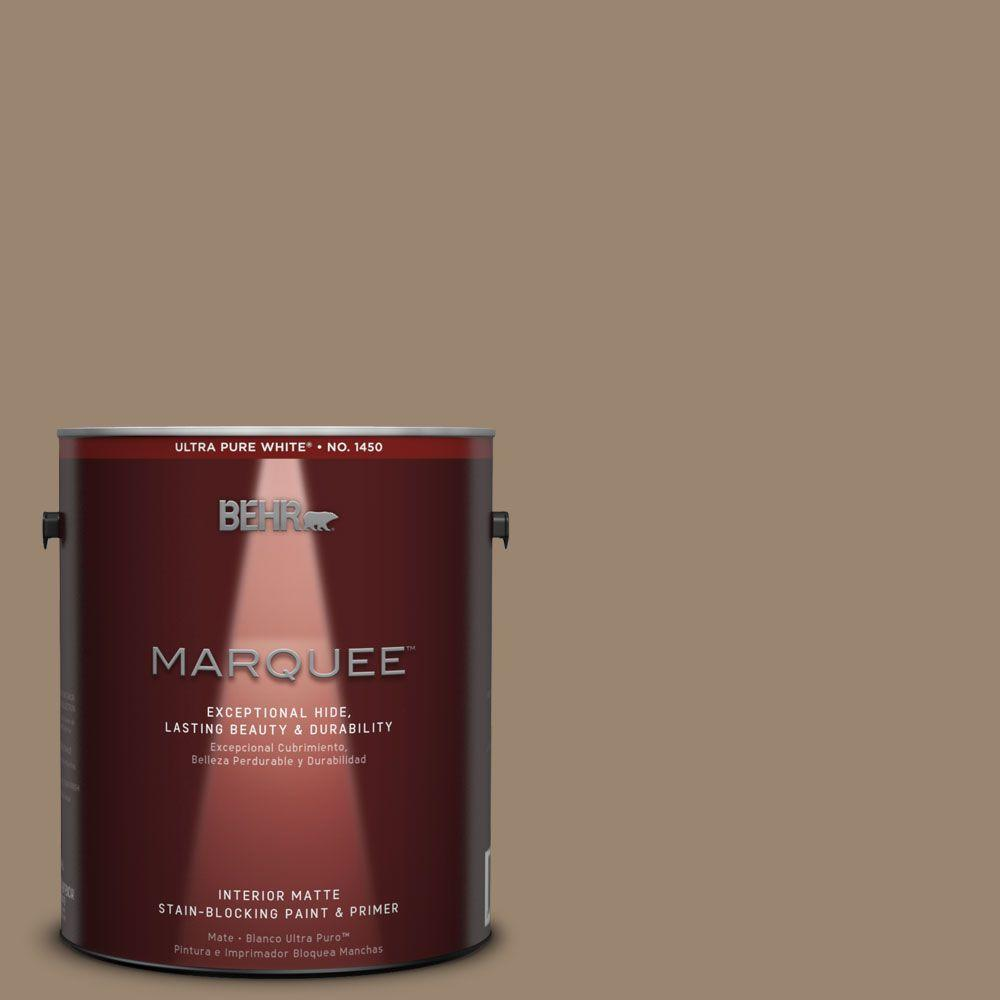 1 gal. #MQ2-48 Sturdy Brown Matte Interior Paint and Primer in