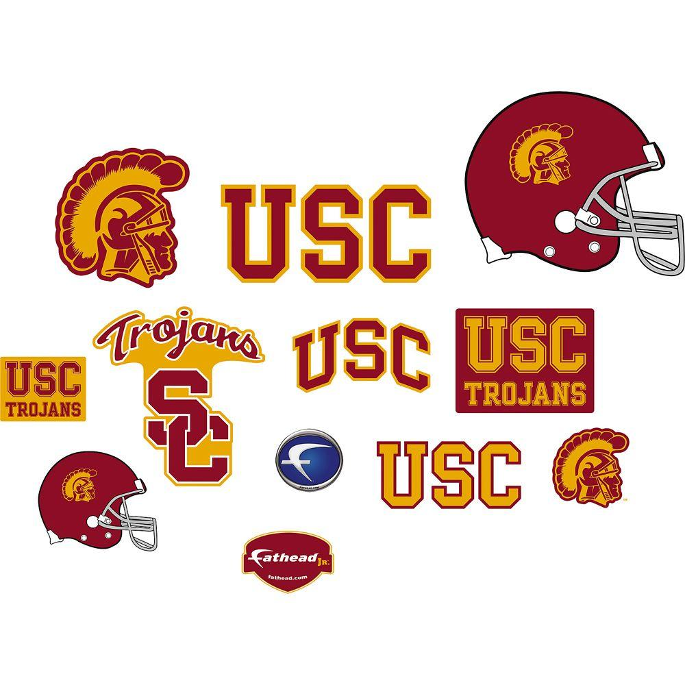 Fathead 40 in. x 27 in. USC Trojans Team Logo Assortment Wall Decal