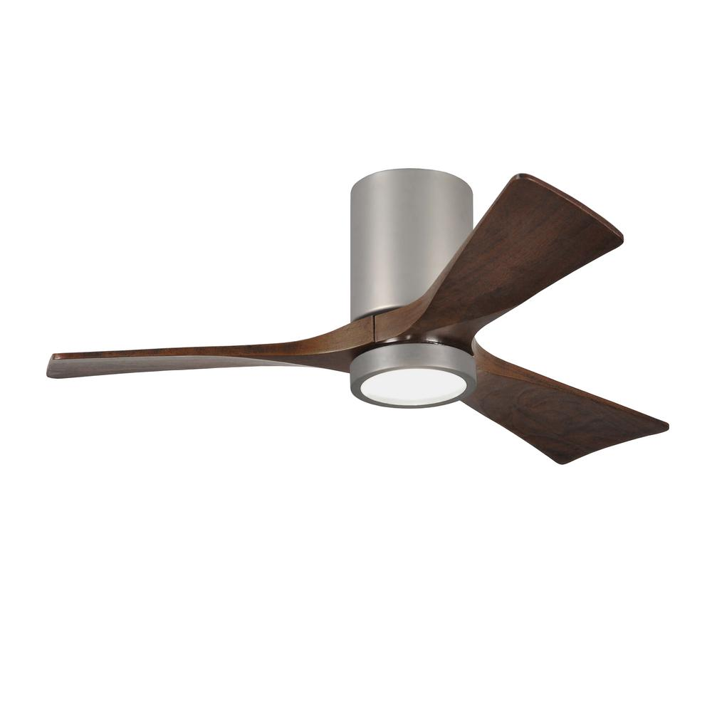 Stile Anderson 22 In Led Indoor Outdoor Brushed Nickel Ceiling Fan Light Combo Power Enters At Switch Box One Wall Damp With