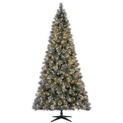 9 ft. Pre-Lit LED Sparkling Amelia Pine Artificial Christmas Tree with 600 Warm White Micro-Dot Lights