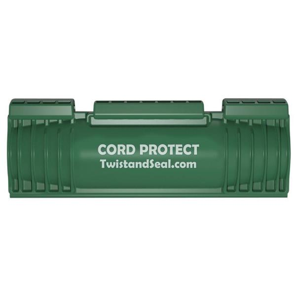 Cord Protect Outdoor Extension Cord Cover and Plug Protection, Green (2-Pack)