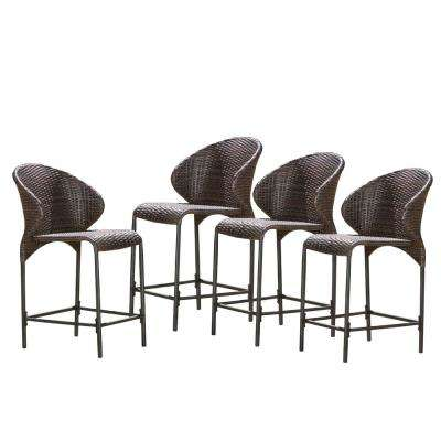 Miraculous Oyster Bay Wicker Outdoor Bar Stool 4 Pack Evergreenethics Interior Chair Design Evergreenethicsorg
