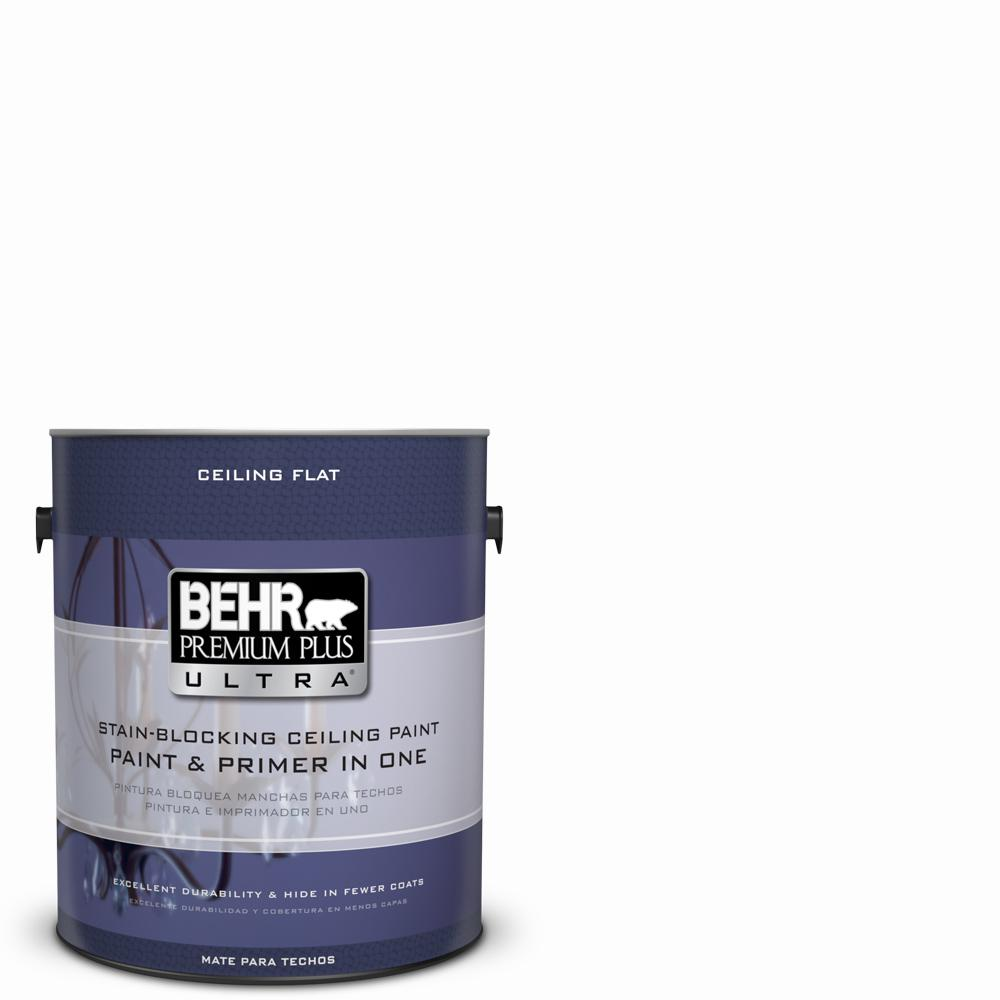 behr premium plus ultra 1 gal ultra pure white ceiling interior rh homedepot com Behr Interior Paint Ceiling Behr Interior Paint Ceiling