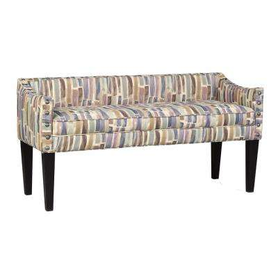 Paint Strokes Hydrangia Upholstered Whitney Bench