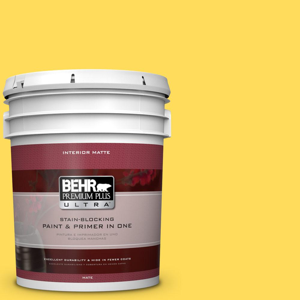 5 gal. #380B-5 Neon Light Matte Interior Paint and Primer in