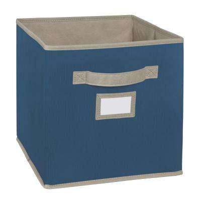 10.5 in. W x 11 in. H x 10.5 in. D Teal Fabric Drawer
