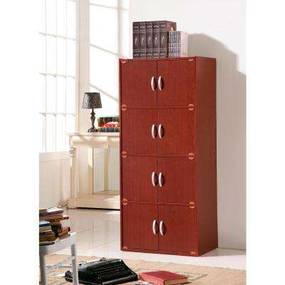 4-Shelf, 54 in. H Mahogany Bookcase with Double Doors