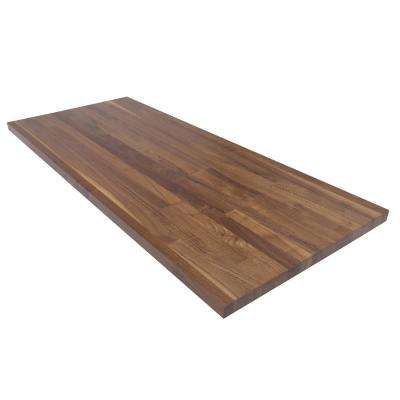 5 ft. L x 2 ft. 1 in. D x 1.5 in. T Butcher Block Countertop in Finished Walnut