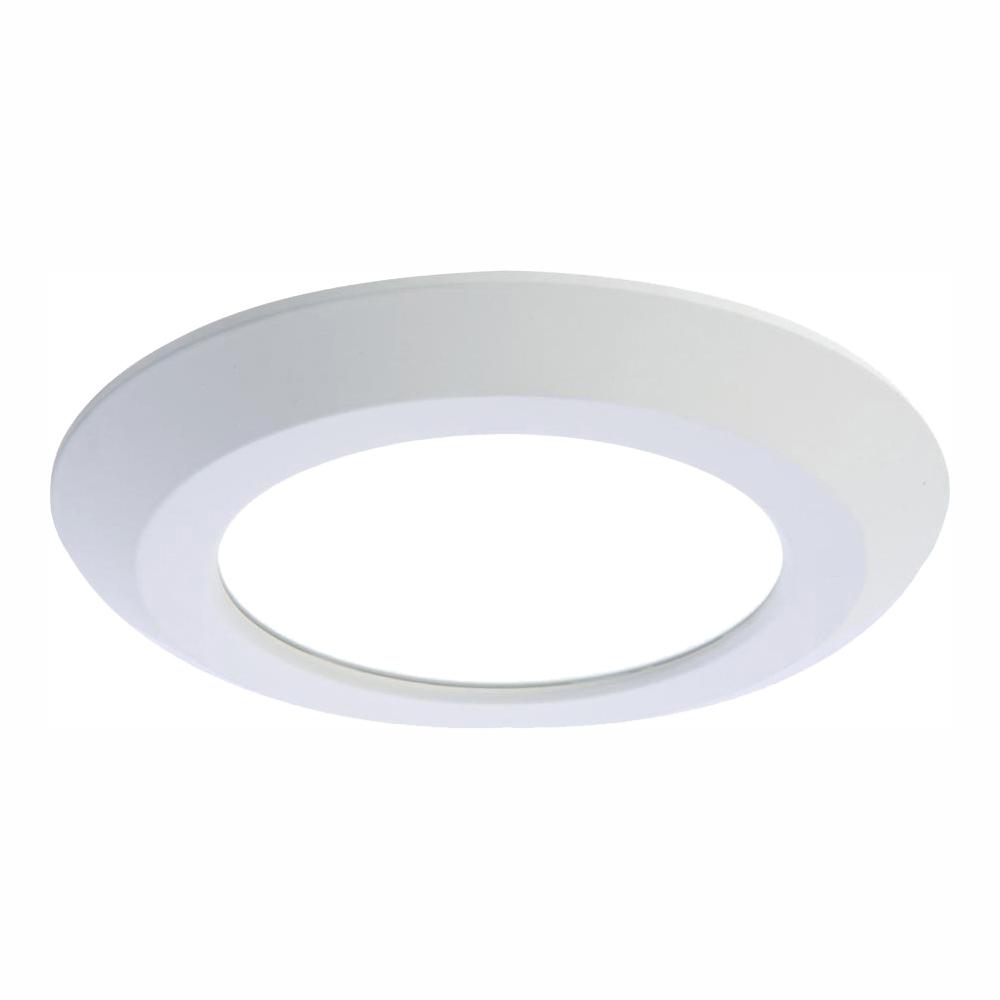 Halo 6 in. White Integrated LED Recessed Trim Downlight 80 CRI 3000K CCT