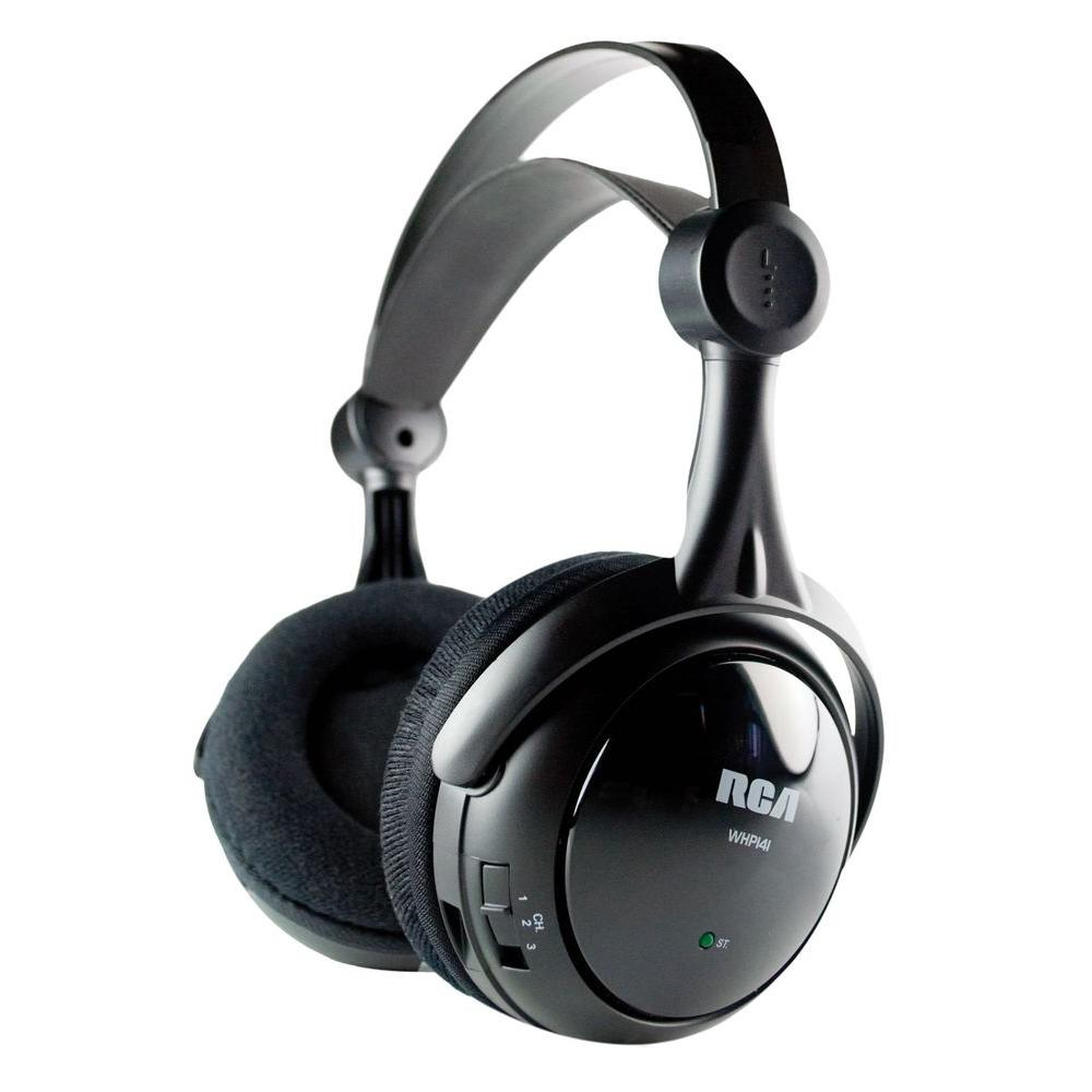 RCA Wireless Rechargeable Headphones with Cable-DISCONTINUED